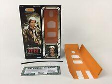 "Custom Vintage Star Wars ROTJ 12"" HAN SOLO TRENCH COAT Boîte + Inserts moderne Ver"