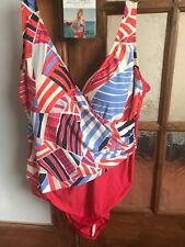 Lovely BNWT M&S bright multi Xtra Life Lycra Secret Slimming swimsuit 22