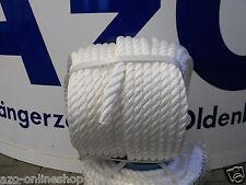 Festmacherleine, Tau, Seil, Ankerleine * 16 mm * 40 m Rolle *weiß* für Boote