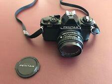 ASAHI PENTAX MV 35mm SLR FILM CAMERA WITH SMC PENTAX 50mm 1:2 LENS