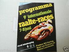 1980 INTERNATIONALE WEGRACES RAALTE LUTTENBERG 7/8 JUNI HARTOG,LUCCHINELLI,RG500