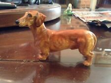 "Vintage Royal Doulton Figurine Daschund Dog English Bone China Hn1141 4-1/2"""