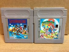 Super Mario Land 1 2 Games Nintendo Gameboy Original OEM Cartridge