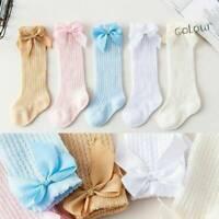 Baby Children Girl Toddler Bow Socks Soft Cotton Knee High Hosiery Tights Leg