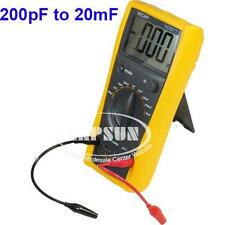 LCD Capacitor Capacitance Meter Tester Digital Multimeter 200pF to 20mF VC6013 A