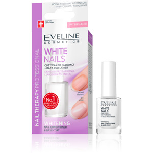 EVELINE Nail Whitener 12ml - No Yellowing & Discoloration Nail Treatment