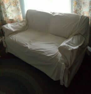 Canvas Love Seat Slip Cover~Excellent Condition~Smoke Free Machine washable
