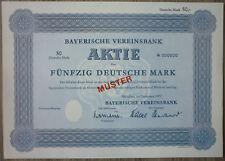 Aktie, Bayerische Vereinsbank MUSTER,    (Art.3225)