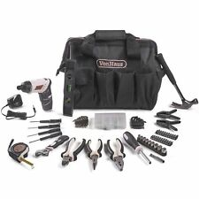 VonHaus Cordless Electric Screwdriver and Household Tool Set Rose Gold 94pc