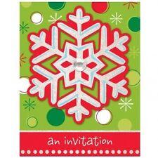 Christmas invitation cards ebay 32 piece party invite card christmas holiday buzz stopboris Choice Image