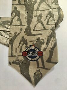 VTG Ralph Marlin MLB Baseball Sport Tie 2003 America's Pastime Tonal 100% Silk