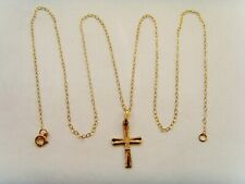 9ct Gold Cross Pendant Complete With Chain