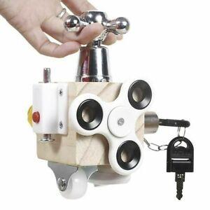 Baby Busy Board Lock Cube Activity Fidget Educational Train Skills Sensory Toy