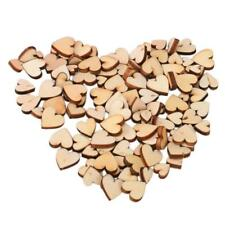 200*Mini Wooden Small Mix Rustic Love Heart Wedding Table Scatter Decor