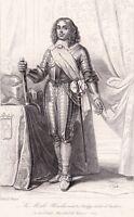 Portrait XIXe Philippe de La Mothe Houdancourt Duc Cardonne & Fayel  Maréchal