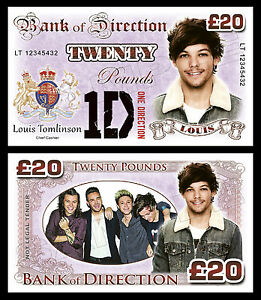 Louis Tomlinson - One Direction Novelty Banknotes