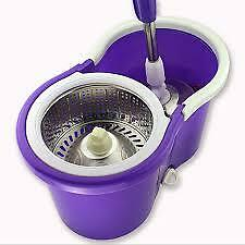 Easy mop 360 Degree Spin Magic with steel bucket, steel pole,2 refils,BEST QUALI