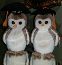 Rare Vintage 1997 TY Beanie Babies Wise Owl Lot of 2