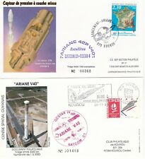 1990 - Launch ARIANE V40 - 2  space covers from Kourou