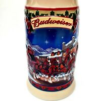 Budweiser Clydesdale Holiday Beer Stein 2003 Christmas Gift Collectible Holiday
