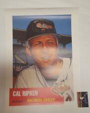 1999 Topps Gallery Heritage 53 Cal Ripken Jr Litho Poster Print Artist AU /600