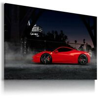 FERRARI ITALIA RED Super Sports Car  Wall Art Canvas Picture AU267  MATAGA