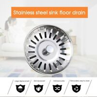 4* Kitchen Stainless Waste Steel Sink Strainer Drain Basket Stopper Plug Filter