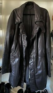 JULIUS 7 Lamb Leather Trench Coat 2007AW Size 3 GRAIL