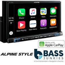 "Alpine iLX-702D 7"" DAB Bluetooth Apple CarPlay Android Mechless iPhone Stereo"