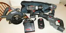PORTER CABLE 18V LITHIUM CORDLESS TOOL SET w/ BATTERY & CHARGER ~ NO BLADES !!!