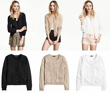 H&M Patternless Crew Neck Jumpers & Cardigans for Women
