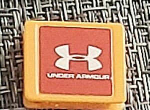 ORANGE UNDER ARMOUR(ARMOR)TILE:Monopoly Empire Board Game Replacement Part Piece