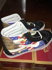 NEW Vans Free Bird Sk8-Hi Reissue Flag Eagle America Sz 9 Free Ship