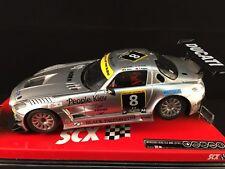 """A10054X300 SCX MERCEDES SLS GT3 No. 8 DUCATI  SLOT CAR 1:32 """"NEW"""""""