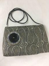 Hilton Head Island Shoulder Bag Helen Carlisle Purse Clutch Silver Brown Black