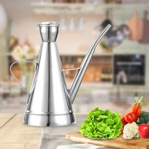 250ML Stainless Steel Oil Pot Drip Free Bottle Can Jar Olive Dispenser Kitchen