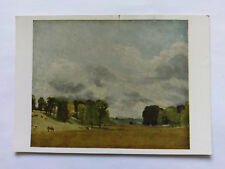 Constable National Gallery colour Postcard c1970s View at Epsom (1808)