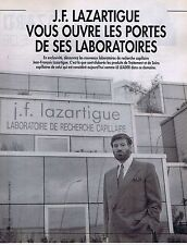 COUPURE DE PRESSE CLIPPING 1992 J.F.LAZARTIGUE (3 pages)