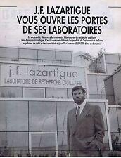 COUPURE DE PRESSE CLIPPING 1992 J.F.LAZARTIGUE (3 pages)