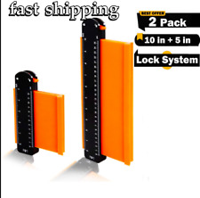 2 Pack Contour Gauge With LOCK Duplication Profile Tool 5