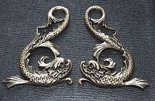 'GOLD' DRAGON FISH MENUKI : Decoration for Japanese Samurai Sword
