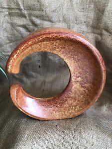 Vintage Bertoncello Roberto Rigon 60s 70s Italian Tobacco Glaze Moon Vase No 286