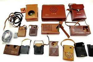 14 Vintage Transistor Radio Cases Only Emerson, Sony, Admiral, Toshiba, AIWA XAM