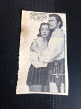 T1-6 Ephemera 1953 Picture Film Richard Todd Glynis Johns The Sword And The Rose