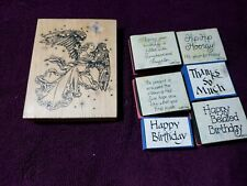Angel Birthday Thanks So Much Craft Ink Rubber Stamps