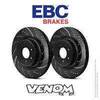 EBC GD Front Brake Discs 320mm for Mercedes S-Class (W140) S420 93-98 GD653