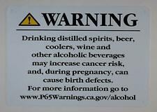New listing California Prop 65 Alcohol Warning Sign-The Offic 00004000 ial Sign(White,Rust.(ref1820)