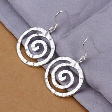 Hot new 925 Sterling Silver Plated jewelry charm trend women earring E353