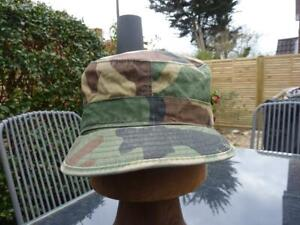 US Army Woodland Cap Camouflage Combat Sun Hat, Size 7 1/4, Airsoft