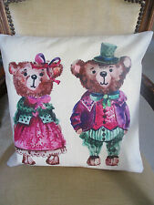Cotton Blend Cartoon Square Decorative Cushions & Pillows